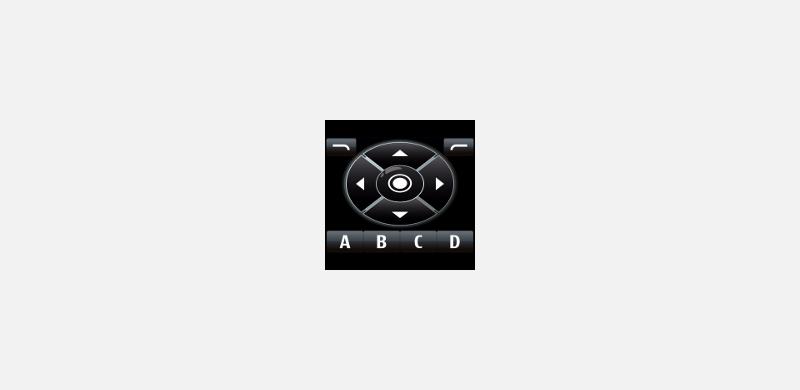 Klawiatura ekranowa w Nokii 5800 Express Music