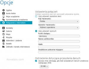 Nokia Suite - konfiguracja punktu dostępowego