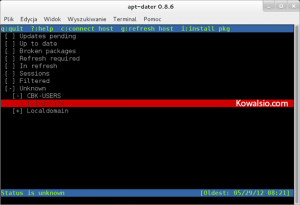 apt-dater nowy host