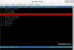 apt-dater - host został zaktualizowany