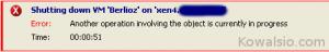 Citrix XenCenter - niepowodzenie restartu