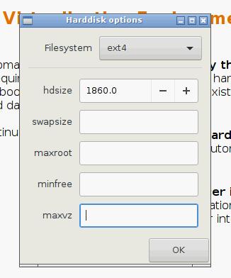 Instalacja Proxmox - dodatkowe opcje partycjonowania