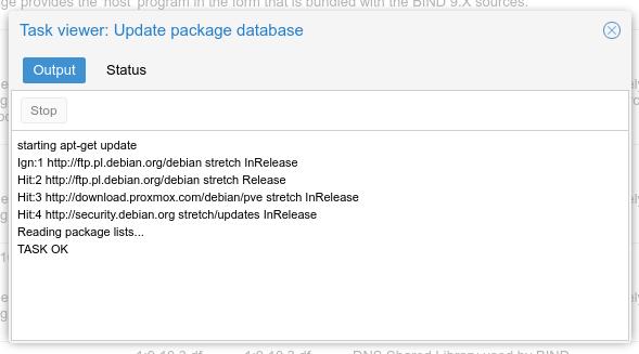 Proxmox VE  - aktualizacja listy pakietów bez błędów