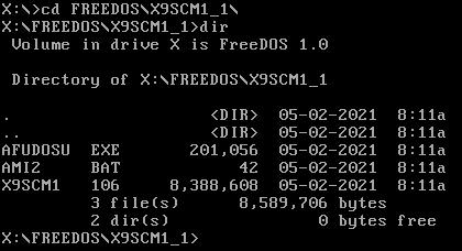 FreeDOS - przejście do katalogu z narzędziami aktualizacyjnymi