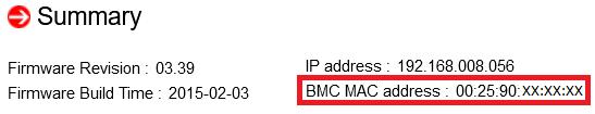 Supermicro - adres MAC BMC niezbędny do wygenerowania licencji