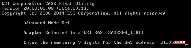 Supermicro SAS 2308-IR (adres kontrolera)